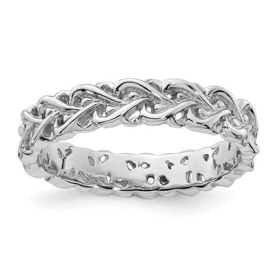Sterling Silver Stackable Expressions Intertwined Heart Ring