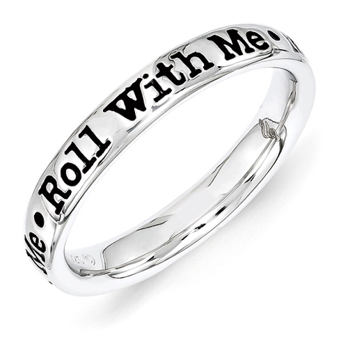 Sterling Silver Stackable Roll With Me Ring