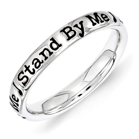 Sterling Silver Stackable Stand By Me Ring