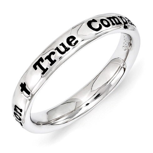 Sterling Silver Stackable True Companion Ring