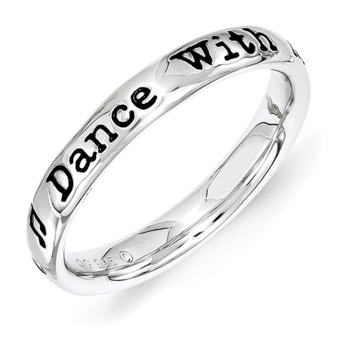 Sterling Silver Stackable Dance With Me Ring