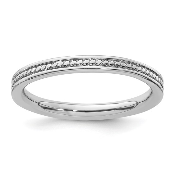 Sterling Silver Stackable Channeled Ring