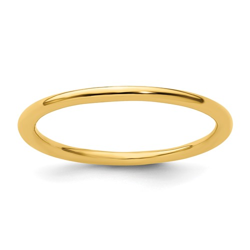 Gold-plated Sterling Silver Stackable 1.5mm Polished Ring