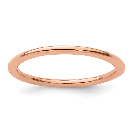 18kt Rose Gold-plated Sterling Silver Stackable 1.5mm Ring