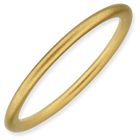 Gold-plated Sterling Silver Stackable 1.5mm Satin Ring