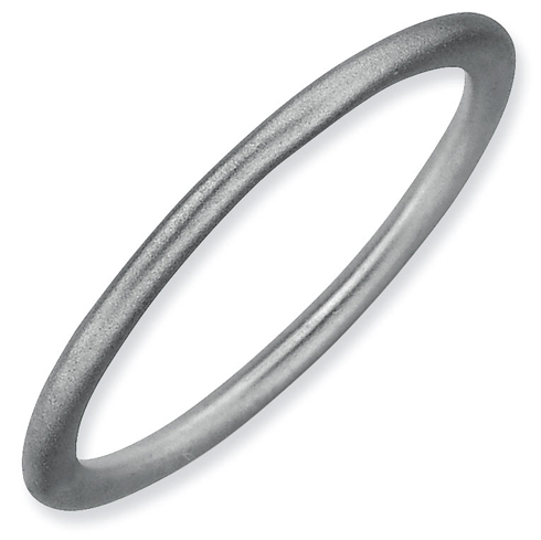 Sterling Silver Stackable Expressions 1.5mm Rhodium Satin Ring