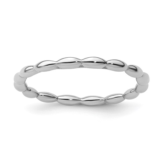 Sterling Silver Stackable Expressions 1.5mm Rice Bead Ring
