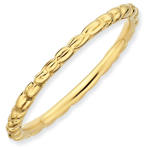 18kt Gold-plated Sterling Silver Stackable 1.5mm Twist Ring