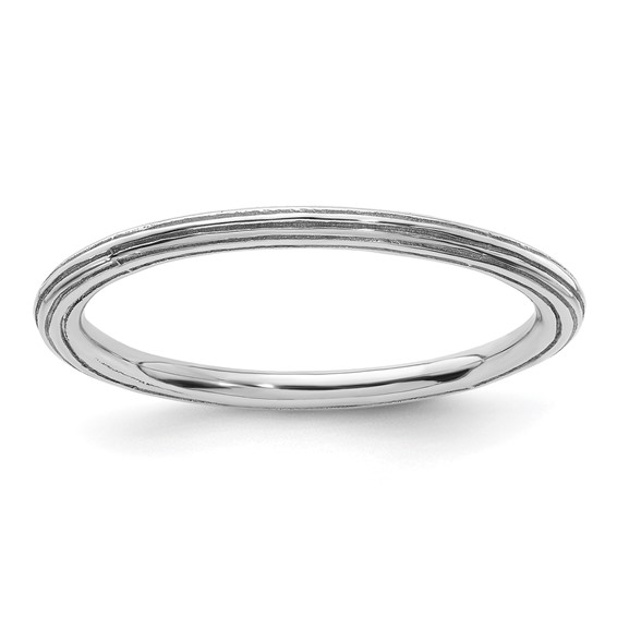 Sterling Silver Stackable 1.5mm Step-down Ring