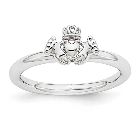 Sterling Silver Stackable Expressions Claddagh Ring