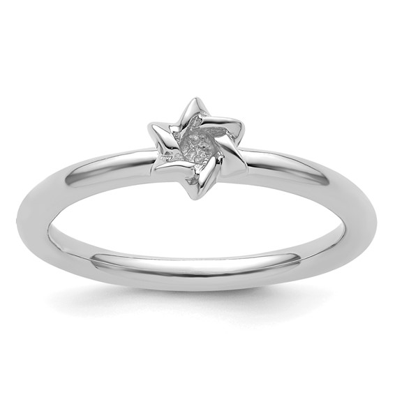 Sterling Silver Stackable Expressions Star of David Ring