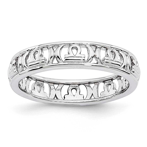 Sterling Silver Stackable Expressions Libra Zodiac Ring