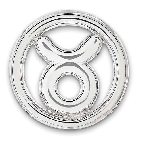 Sterling Silver Small Taurus Zodiac Pendant