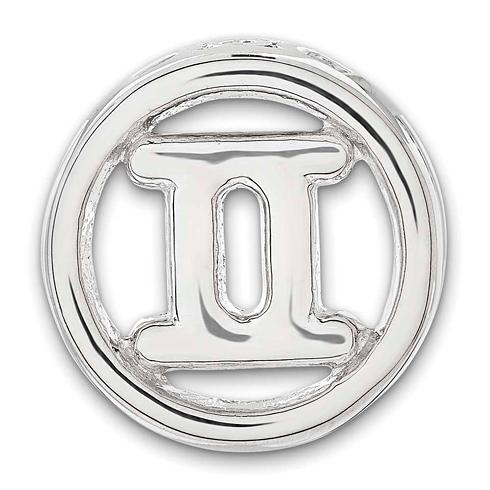 Sterling Silver Small Gemini Zodiac Pendant