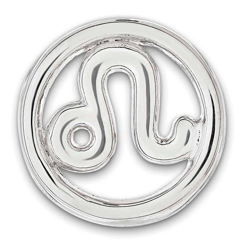 Sterling Silver Small Leo Zodiac Pendant