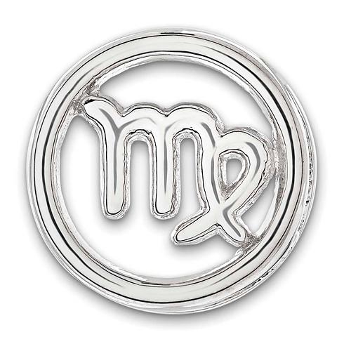 Sterling Silver Small Virgo Zodiac Pendant