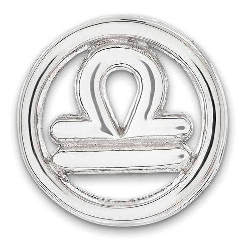Sterling Silver Small Libra Zodiac Pendant
