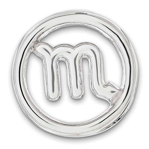 Sterling Silver Small Scorpio Zodiac Pendant
