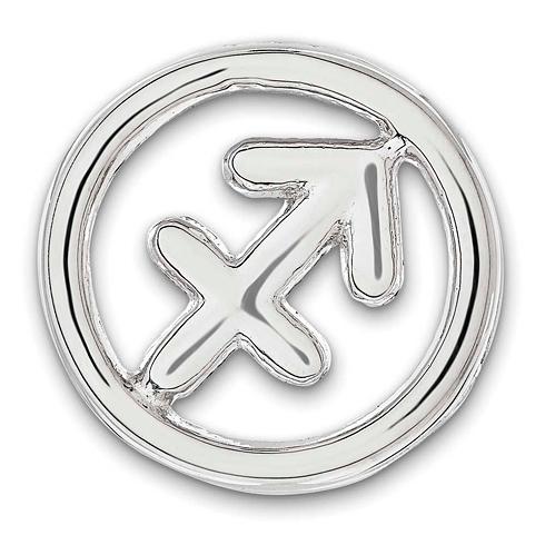 Sterling Silver Small Sagittarius Zodiac Pendant
