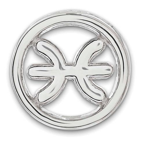 Sterling Silver Small Pisces Zodiac Pendant