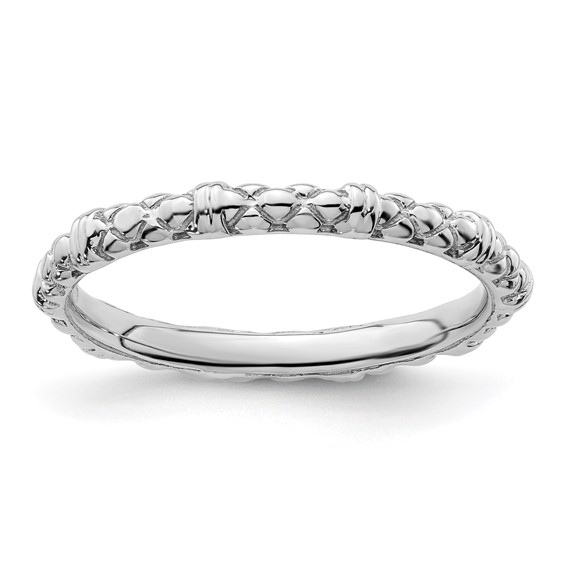 Sterling Silver Stackable Expressions 2.25mm Fancy Cable Ring