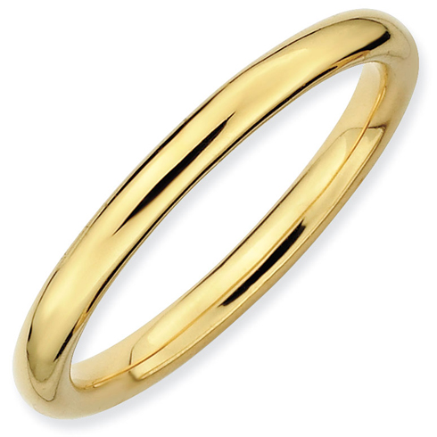 Gold-plated Sterling Silver Stackable 2.25mm Polished Ring