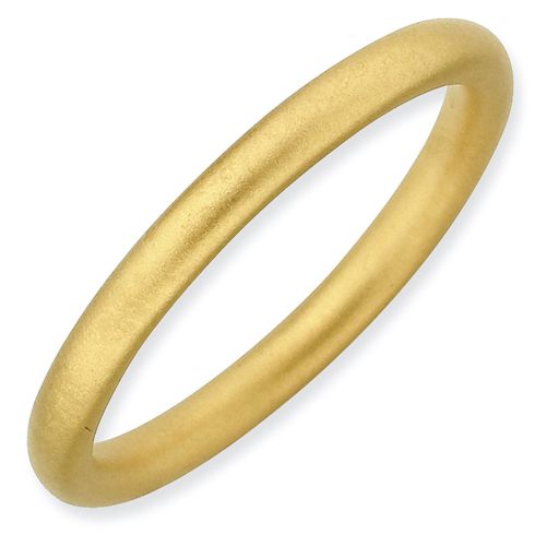 Gold-plated Sterling Silver Stackable 2.25mm Satin Ring