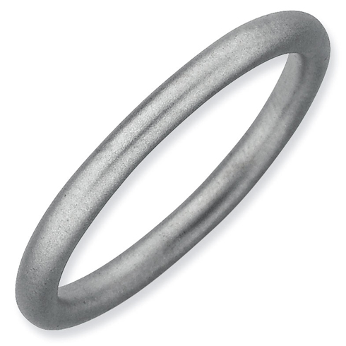 Sterling Silver Stackable Expressions 2.25mm Rhodium Satin Ring