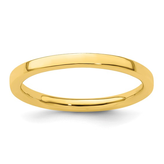 18kt Gold-Plated Sterling Silver Stackable 2.25mm Ring
