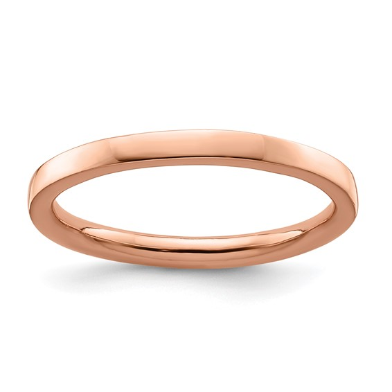 18kt Rose Gold-plated Sterling Silver Stackable 2.25mm Ring