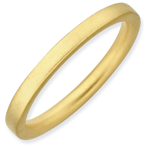 Sterling Silver Stackable Expressions 2.25mm Gold-plated Satin Ring