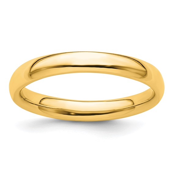 Gold-plated Sterling Silver Stackable Expressions 3.25mm Ring