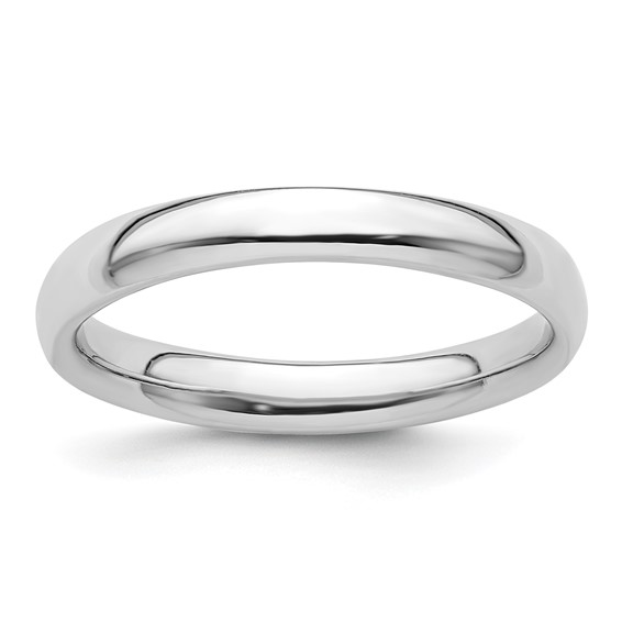 Sterling Silver Stackable Expressions Rhodium Polished Ring