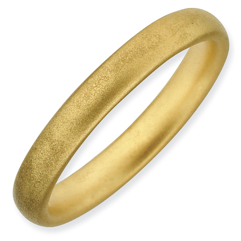 Gold-plated Sterling Silver Stackable 3.25mm Satin Ring
