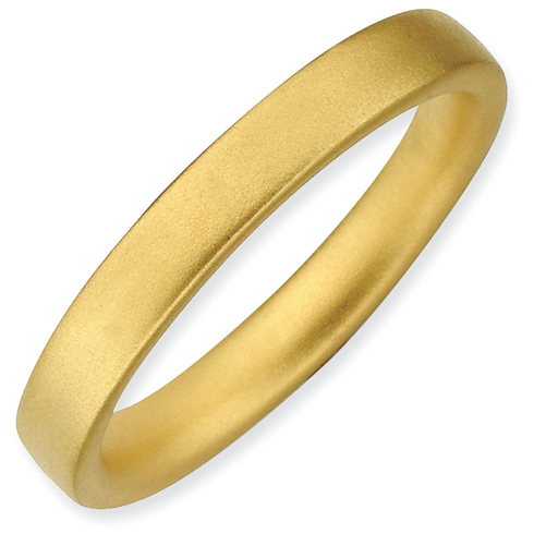 Sterling Silver Stackable Expressions Gold-plated Satin Ring
