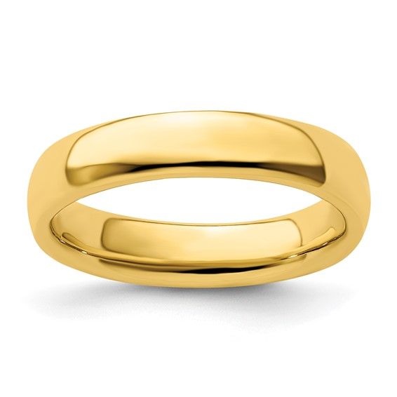 Sterling Silver Stackable Expressions Gold-plated Polished Ring