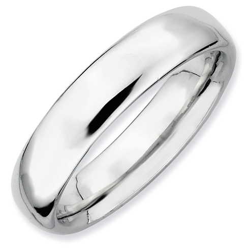 Sterling Silver Stackable Expressions Rhodium 4.5mm Ring