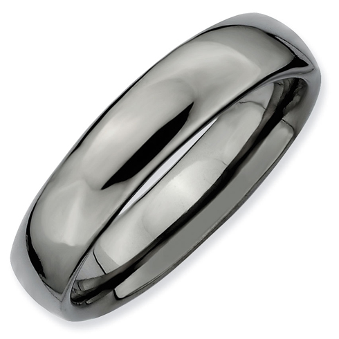 Sterling Silver Stackable Expressions Black-plated Polished Ring