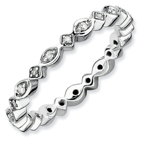 Sterling Silver Stackable Expressions 1/10 ct Diamond Ring