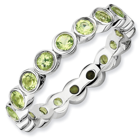 Sterling Silver Stackable Expressions 1.26 ct Peridot Ring