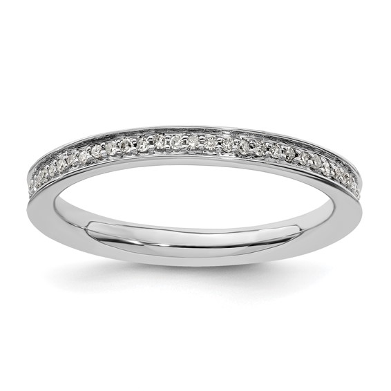 Sterling Silver 1/5 ct Diamond Eternity Ring