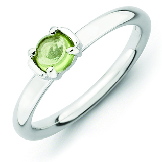 Sterling Silver Stackable Expressions 1/2 ct Peridot Ring
