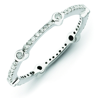 Sterling Silver Stackable Expressions 1/4ct Diamond Ring