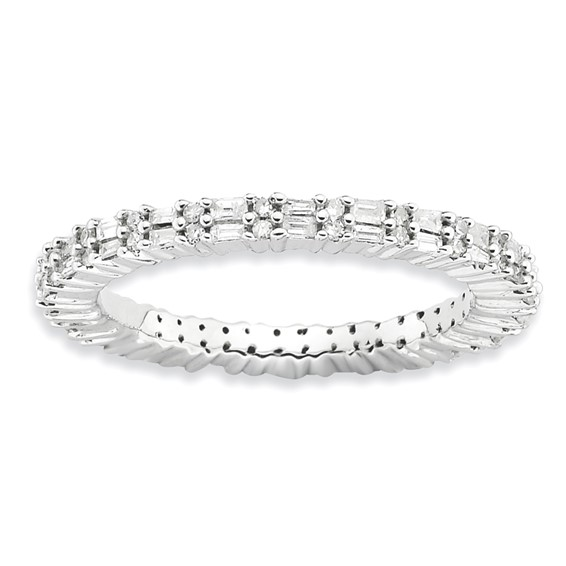 Sterling Silver Stackable Expressions 1/2ct Diamond Ring