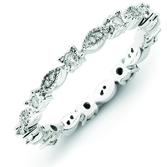 Sterling Silver Stackable Expressions 1/5ct Diamond Ring