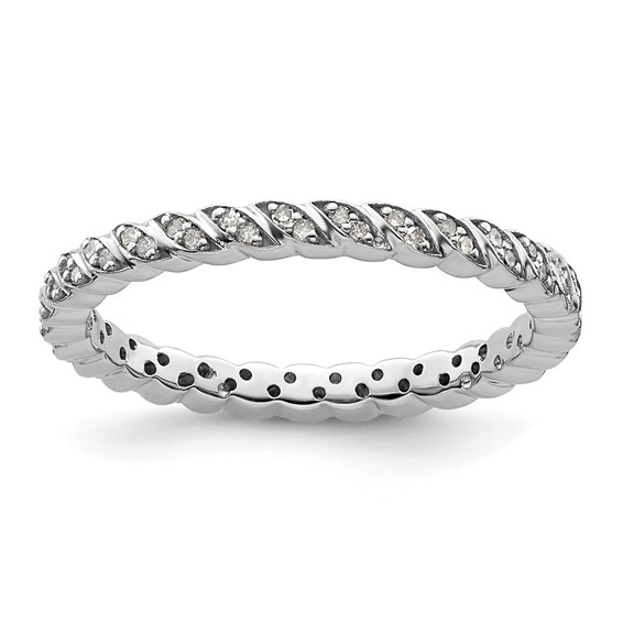 Sterling Silver Stackable Expressions 1/5ct Diamond Eternity Ring