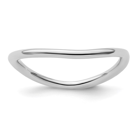 Sterling Silver Stackable 1.5mm Rhodium-plated Wave Ring