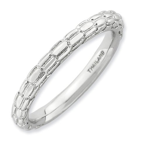 Sterling Silver Stackable Expressions Cobblestone Ring