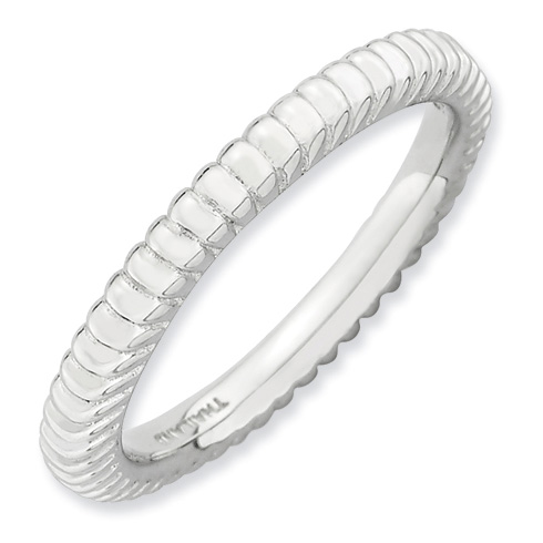 Sterling Silver Stackable Expressions Fluted Ring
