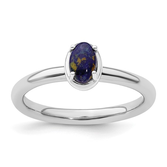 Sterling Silver Stackable Expressions Lapis Ring